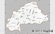 Gray Simple Map of Burkina Faso, single color outside