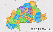 Political Simple Map of Burkina Faso, cropped outside