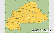 Savanna Style Simple Map of Burkina Faso, cropped outside