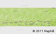 Physical Panoramic Map of Bieha