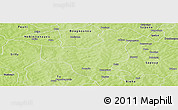 Physical Panoramic Map of Cassou