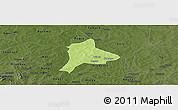 Physical Panoramic Map of Fara, darken