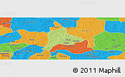 Physical Panoramic Map of Fara, political outside