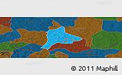 Political Panoramic Map of Fara, darken