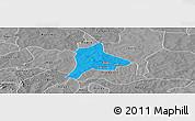 Political Panoramic Map of Fara, desaturated