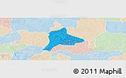 Political Panoramic Map of Fara, lighten