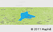 Political Panoramic Map of Fara, physical outside