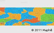 Political Panoramic Map of Fara