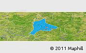 Political Panoramic Map of Fara, satellite outside