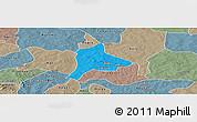 Political Panoramic Map of Fara, semi-desaturated
