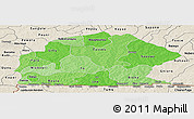 Political Shades Panoramic Map of Sissili, shaded relief outside