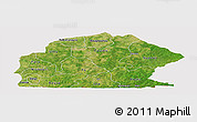 Satellite Panoramic Map of Sissili, cropped outside