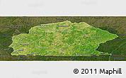 Satellite Panoramic Map of Sissili, darken