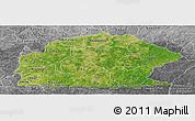 Satellite Panoramic Map of Sissili, desaturated
