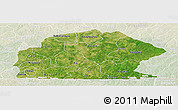 Satellite Panoramic Map of Sissili, lighten