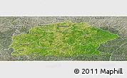 Satellite Panoramic Map of Sissili, semi-desaturated