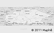 Silver Style Panoramic Map of Sissili