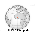 Outline Map of Sapouy