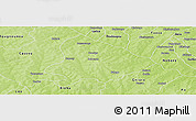 Physical Panoramic Map of Sapouy