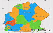 Political Simple Map of Sissili, cropped outside