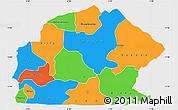 Political Simple Map of Sissili, single color outside