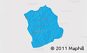 Political 3D Map of Aribinda, cropped outside