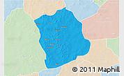 Political 3D Map of Aribinda, lighten