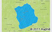 Political 3D Map of Aribinda, physical outside