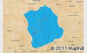 Political 3D Map of Aribinda, satellite outside