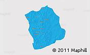 Political 3D Map of Aribinda, single color outside