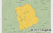 Savanna Style 3D Map of Aribinda