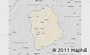 Shaded Relief Map of Aribinda, desaturated