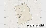 Shaded Relief Map of Aribinda, lighten