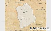 Shaded Relief Map of Aribinda, satellite outside