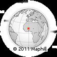 Outline Map of Aribinda