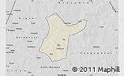 Shaded Relief Map of Djibo, desaturated