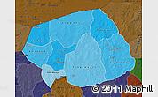 Political Shades Map of Soum, darken