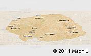 Satellite Panoramic Map of Soum, lighten