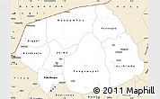 Classic Style Simple Map of Soum