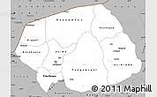 Gray Simple Map of Soum