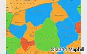 Political Simple Map of Soum