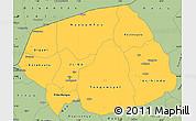 Savanna Style Simple Map of Soum