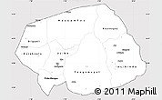 Silver Style Simple Map of Soum, cropped outside