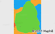 Political Simple Map of Tongomayel