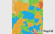 Political 3D Map of Sourou