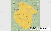 Savanna Style 3D Map of Sourou
