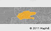Political Panoramic Map of Gassan, desaturated