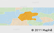 Political Panoramic Map of Gassan, lighten