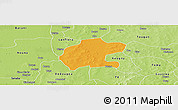 Political Panoramic Map of Gassan, physical outside