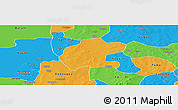 Political Panoramic Map of Gassan
